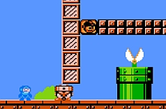 Megaman In Super Mario Bros